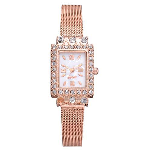 Ben-gi Frauen-Mädchen-Quadrat formte Strass-Dekor-Uhrenarmband Quarz-Legierung passt Armbanduhr Geschenke