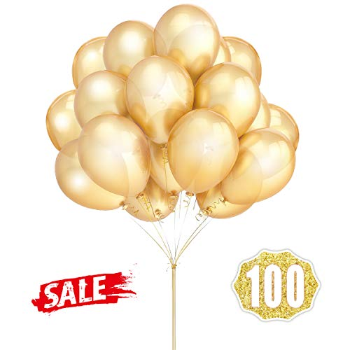 Goldballons Hoshin Luftballons 12 Zoll verdicken Latex Metallic -