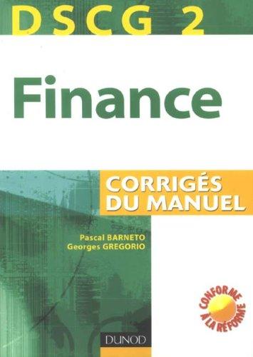 DSCG 2 Finance : Corrigés du manuel