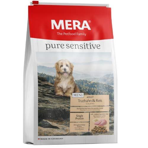 MERA pure sensitive Mini Adult Truthahn und Reis Hundefutter - Trockenfutter für die tägliche Ernährung kleiner nahrungssensibler Hunde - 1 x 4 kg