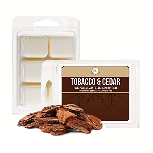 Aira Sojawachs, Bio, vegan, koscher, duftende Sojawachs, Würfel mit ätherischen Öl-Mischungen, Keine chemischen 100{51c91e4e976985ac6d5c7a5587aea84445b1f43f47e891d8d39bc7fe880ec6d4} Sojawachs, für elektrische/Teelichter Tobacco & Cedar