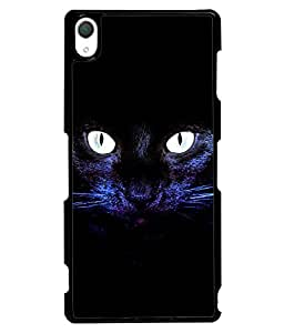 Fuson 2D Printed Cat Designer back case cover for Sony Xperia Z3 - D4508