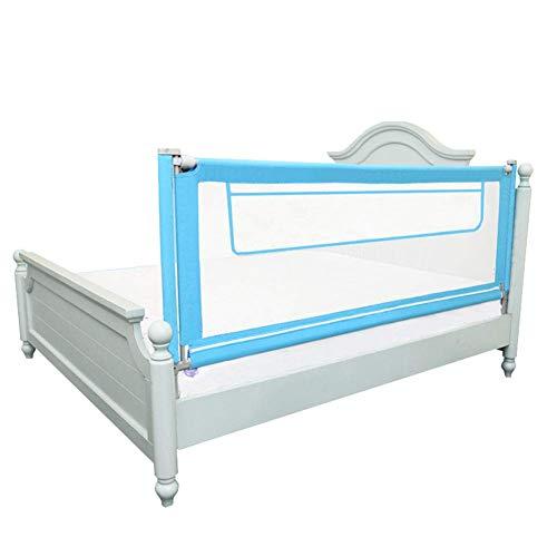 XUE Extra hohes Bettgestell mit Aufbewahrungstasche für Kleinkinder, vertikales Heben des Schutzgeländers für Kleinkinder und Schlafgitter für Kleinkinder,180cm -
