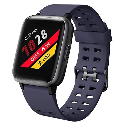 Willful Smartwatch,Fitnessarmband mit Pulsuhr 1,3 Zoll Touchscreen Fitness Uhr 5ATM Wasserdicht Fitness Tracker Sportuhr mit Schrittzähler Stoppuhr Smart Watch für Damen Herren für iOS Android Handy
