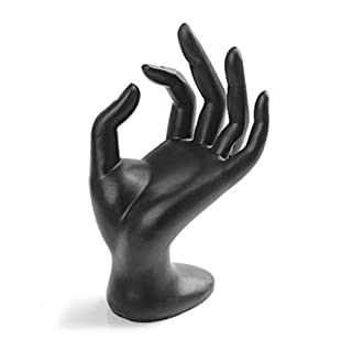 Tinksky Jewelry Display Holder OK Gesture Ring Stand Holder Bracelet Artcraft Hand Display Rack (Black Resin)