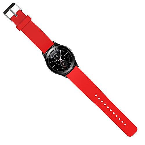 Preisvergleich Produktbild Samsung Gear S2 Classic Armband Uhrband Uhrenarm Band Wrist Strap , in Rot OKCS®