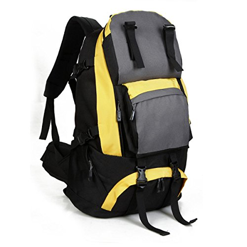Outdoor Zaino Oxford Stoffa Ad Alta Capacità Alpinismo Corsa Zaino Yellow