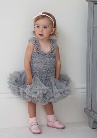 Silver Grey Petti-Dress / Tutu Dress 1-10 Years from £44.99 (6-8 Years)