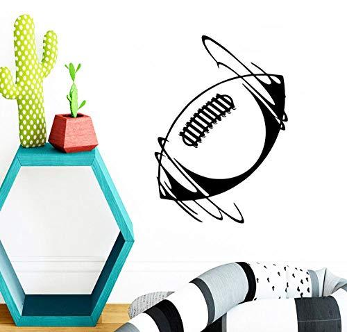 Kunstaufkleber Ausgangsdekoration Diy Wandtattoos Kinderzimmer Vinyl Rugby Möbelkunst Schlafzimmer Interieur 43X60Cm