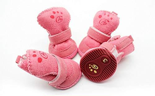 Sanza Markenschuhe für Tiere Winter, umweltfreundliche Materialien USA innen und außen Farbe Rosa und Braun, erhältlich 5 Größen