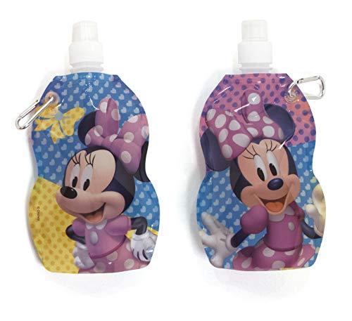 Arditex WD12026U Trinkflasche aus Kunststoff, faltbar, 0,5 l, Modell Minnie Mouse, Mehrfarbig