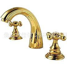 Rubinetti tre fori ottone - Rubinetti bagno ottone ...