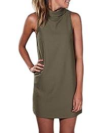 f00f95591ba4 Amazon.it  smanicato collo alto - Vestiti   Donna  Abbigliamento