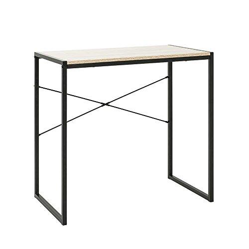 Pharao24 Schreibtisch in Eiche Hell und Schwarz kaufen