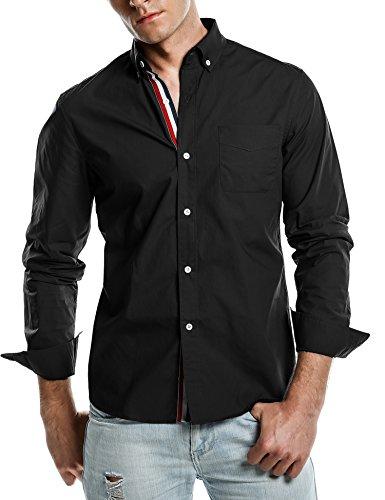 Coofandy Mens formali magliette casuali dimagriscono le camice misura del
