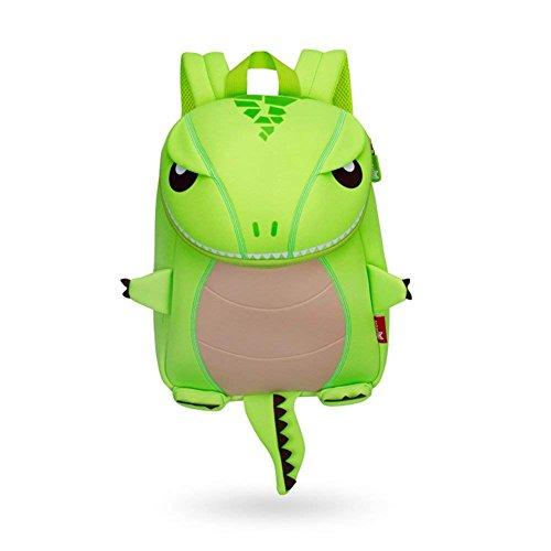 Kinder Rucksack Dinosaurier Tier Cartoon Kinder Schultasche Lunch Bag Cute Kindergarten Placochelys Drachen Beste Geschenk für Jungen 3-8 Jahr Monster (grün) - 5'6 Kürbis