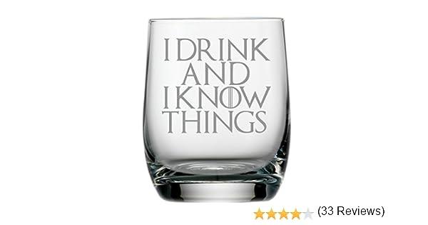 Lapal Dimension Verre /à Whisky incurv/é inspir/é de Game of Thrones avec Citation I Drink and I Know Things