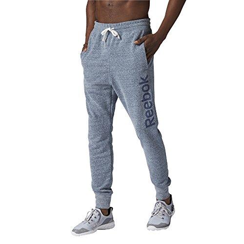 Reebok El Big Logo Ft Pant - Pantalón largo para hombre, color azul, talla L