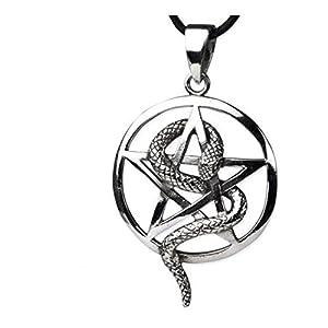 Pentagrama pie gótico colgante amuleto