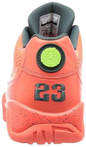 Nike Air Jordan 9 Retro Low, espadrilles de basket-ball homme Orange - Naranja (Bright Mango / Hasta-Ghost Green)