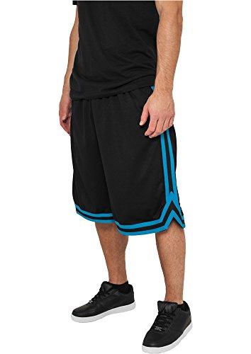 Preisvergleich Produktbild Urban Classics Stripes Mesh Shorts TB243, color:black/turquoise/black;size:XXL
