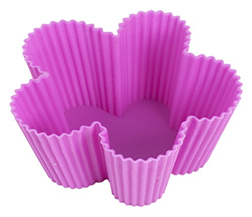 Home Blumen Farbige Silikon Cup Cake Fällen (Pack von 6) Cup-fall-pack