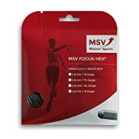 MSV Focus Hex 12m black Tennis String 1.23mm