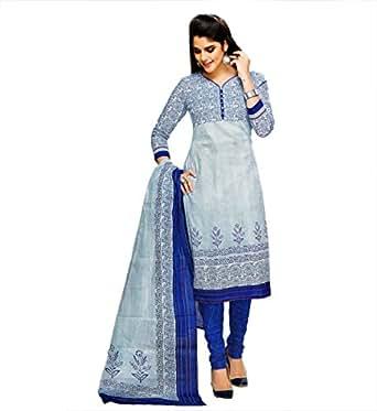 Miraan Women's Cotton Dress Material (SG928_Blue_One Size)