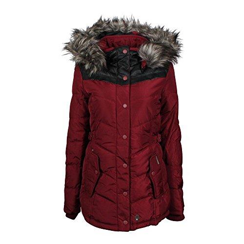 Khujo Winsen giacca invernale bordeaux, Frauen:L