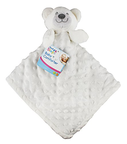 CREAM-BABY-SOFT-TEDDY-BEAR-COMFORTER-SNUGGLE-COMFORT-BLANKET-FIRST-NEWBORN