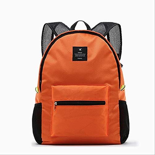 fhdc Rucksäcke Lässige Mode Rucksack Frauen Freizeit Reise rucksäcke für Teenager schultaschen weibliche Nylon wasserdicht klapp Rucksack 15 Zoll orange
