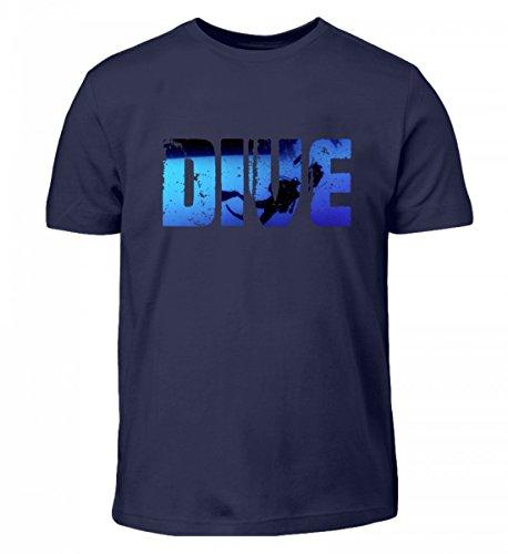 Hochwertiges Kinder T-Shirt - XASTY Tauchen Gerätetauchen Freitauchen Apnoe T-Shirts Hoodies Manta Mantarochen Hai Dive (Tauchausrüstung 9)