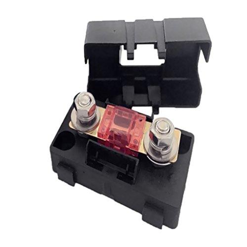 Dolity Kfz Auto Mini Ans Sicherungshalter Fuse Box Block Staubdichte Abdeckung - Ampere Auswählen - Schwarz - 30A
