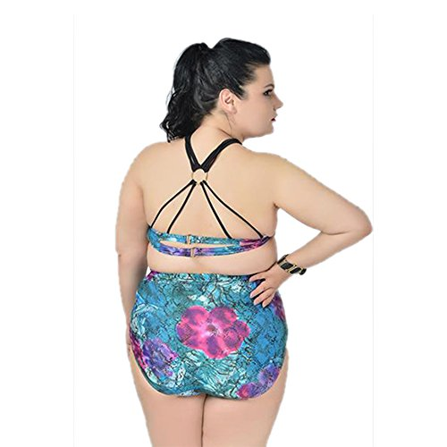 KINDOYO Frauen schoene Tankini Set Schwimmanzug Bademode Damen Strandmode Strand Bikini Set Neckholder Tankini Mehrfarbig-Stil A