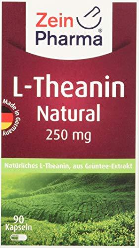 Grüner-tee-extrakt 30 Cap (ZeinPharma L-Theanin 250 mg 90 Kapseln (3 Monate Vorrat) Grüntee-Extrakt aus kontrolliertem Anbau, entspannt ohne müde zu machen Hergestellt in Deutschland, 31 g)
