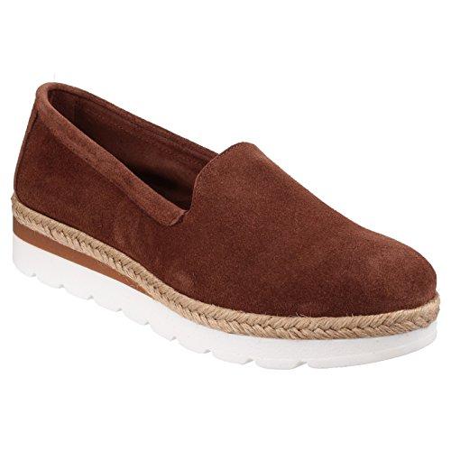 Riva Loreta Slip on Low Ladies pommé chaussure brown