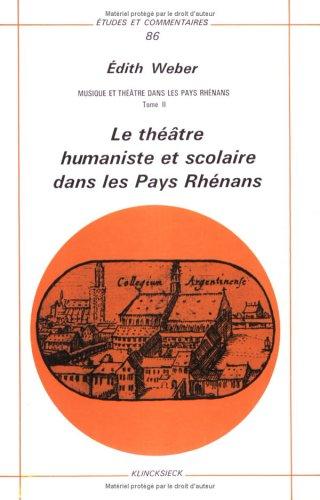 Musique & theatre pays.rhenans t2 ec 86
