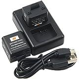 DSTE 2-pack Rechange Standard 980mAh Li-Polymer Batterie GMICP902624 + Dual USB Chargeur pour Garmin Virb X, XE, XE GPS Action Caméra