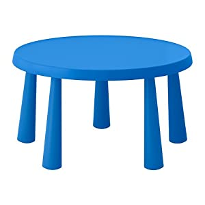 IKEA Kinder Tisch Mammut Indoor Outdoor blau 903.651.80 Größe 33 1/2