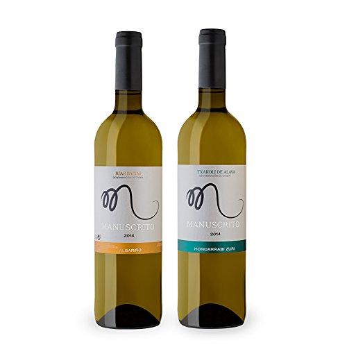 Vinos Manuscrito Pack 2 Botellas Albariño 100% - Txacoli Hondarrabi Zuri 100%