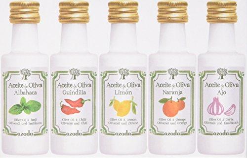 Azada set of flavoured Oilve Oils 5 x 20ml