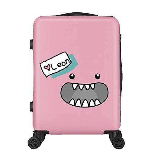 Unbekannt Koffer,Kofferwagen tragen Koffer, Handgepäck, leichte Hartschale, 4 Runden ABS, 20 Zoll, 24 Zoll-Pink-L(24in)