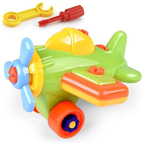SDGDFXCHN Kinder Puzzle und Demontage Spielzeug Nehmen-auseinander und Montieren Zug und Werkzeuge Cartoon-Auto, Flugzeug (Montieren Werkzeug)
