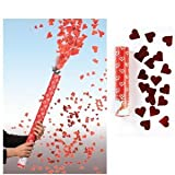 10 x Konfetti Shooter 20 cm Herz Regen rot Hochzeit Konfettibombe bis zu 6 Meter hoch