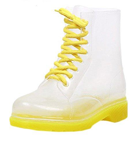 Scothen Damen Kurzschaft Stiefel Gummistiefel Gummistiefeletten Regenstiefel Chelsea Boots Winter Regen Wellies Gummistiefel Stulpe Mode Regen Stiefel Frauen Regenstiefelette Jelly Boot Halbstiefel Mode Wellies