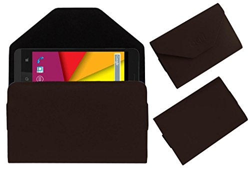 Acm Premium Pouch Case For Karbonn Titanium S5 Ultra Flip Flap Cover Holder Brown  available at amazon for Rs.359