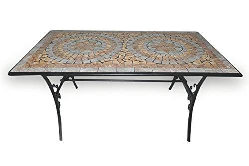 Galileo Casa Cipro Tavolo Rettangolare Mosaico 145x83xh75cm, Multicolor