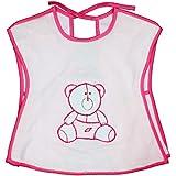 Rachna's Knot Closure Back Open T-Shirt Saliva Towel Burp Cloth Baby Feeding Bib Apron - 523 - Pink - Upto 3 Years