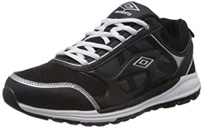 Umbro Men's Dublin Black and White Mesh Sport Running Shoes - 11 UK