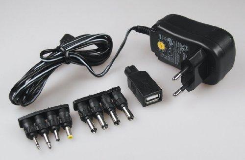 egerät Stromversorgung universal 3V 4,5V 5V 6V 7,5V 9V 12V=, max. 1000mA, USB Adapter 5V / 2,5A - IP20 für LED Stripe Notebook Reader Lampen Leuchten (Kleine Led-lüfter)